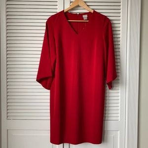 Chico's Red Bell Sleeve Dress NWT